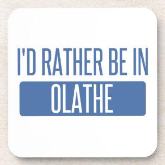 Ik zou eerder in Olathe zijn Bier Onderzetter
