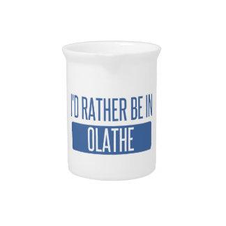 Ik zou eerder in Olathe zijn Bier Pitcher