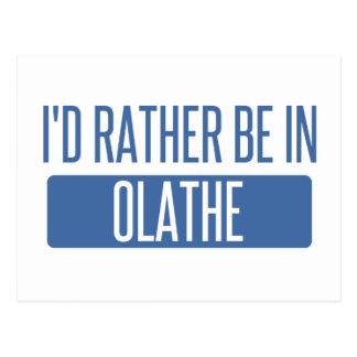 Ik zou eerder in Olathe zijn Briefkaart