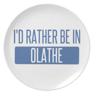 Ik zou eerder in Olathe zijn Diner Borden