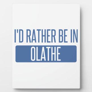 Ik zou eerder in Olathe zijn Fotoplaat