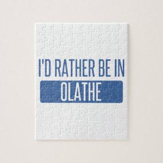 Ik zou eerder in Olathe zijn Puzzel