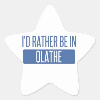 Ik zou eerder in Olathe zijn Ster Sticker