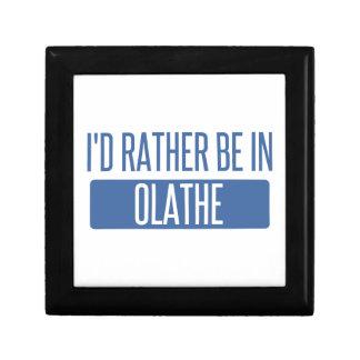 Ik zou eerder in Olathe zijn Vierkant Opbergdoosje Small