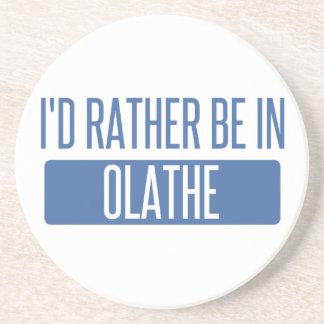 Ik zou eerder in Olathe zijn Zandsteen Onderzetter