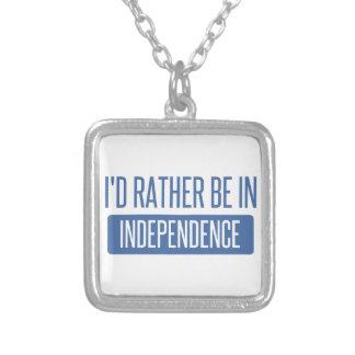 Ik zou eerder in Onafhankelijkheid zijn Zilver Vergulden Ketting
