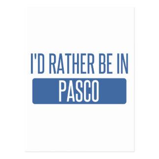 Ik zou eerder in Pasco zijn Briefkaart