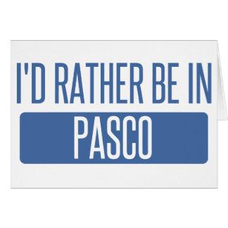 Ik zou eerder in Pasco zijn Kaart
