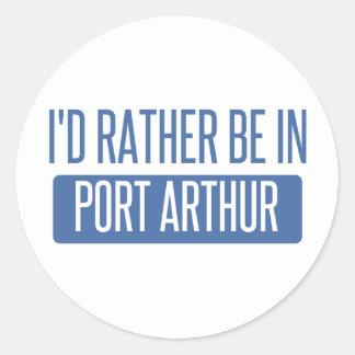 Ik zou eerder in Port Arthur zijn Ronde Sticker