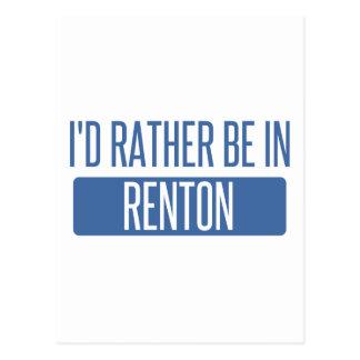 Ik zou eerder in Renton zijn Briefkaart