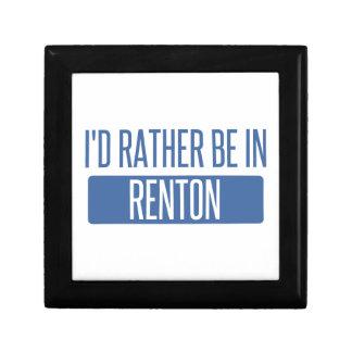 Ik zou eerder in Renton zijn Decoratiedoosje