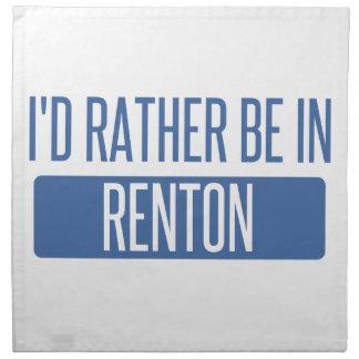 Ik zou eerder in Renton zijn Katoenen Servet