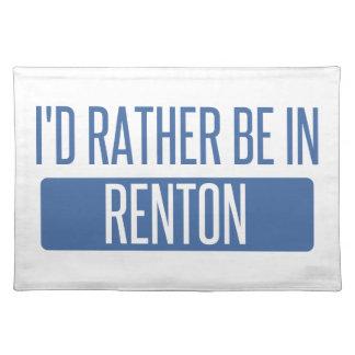 Ik zou eerder in Renton zijn Placemat