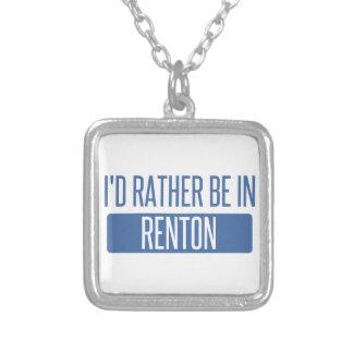 Ik zou eerder in Renton zijn Zilver Vergulden Ketting