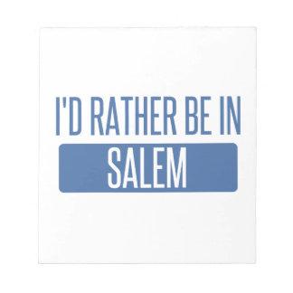 Ik zou eerder in Salem zijn OF Notitieblok