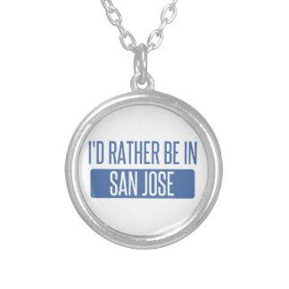 Ik zou eerder in San Jose zijn Zilver Vergulden Ketting