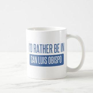 Ik zou eerder in San Luis Obispo zijn Koffiemok