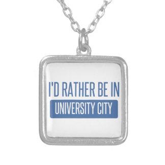Ik zou eerder in Universitaire Stad zijn Zilver Vergulden Ketting