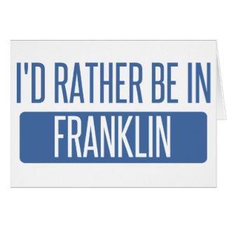 Ik zou eerder in WI Franklin zijn Kaart