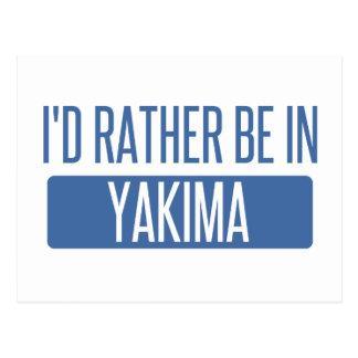 Ik zou eerder in Yakima zijn Briefkaart