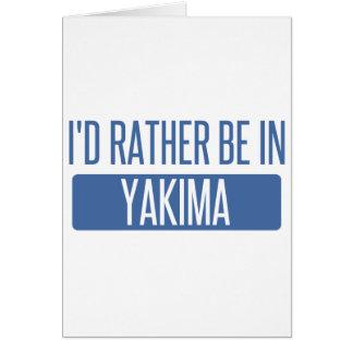 Ik zou eerder in Yakima zijn Kaart