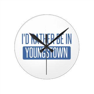 Ik zou eerder in Youngstown zijn Ronde Klok