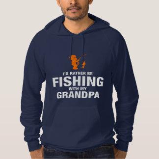 Ik zou eerder met Mijn Opa vissen Hoodie