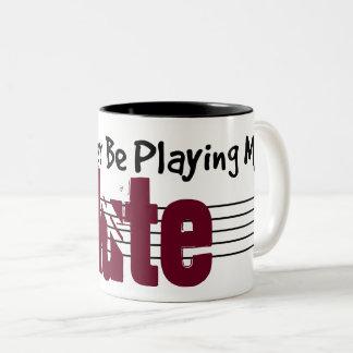 Ik zou eerder Mijn Luit spelen Tweekleurige Koffiemok