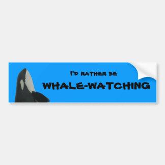 Ik zou eerder op de Sticker van de Bumper walvis-l