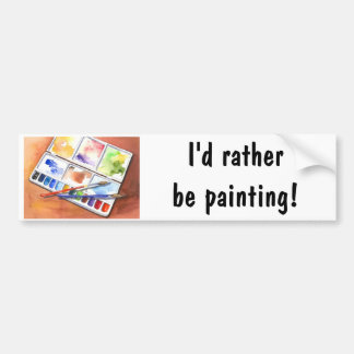 Ik zou eerder schilderen! bumpersticker