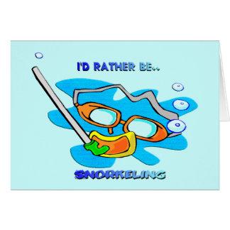 Ik zou eerder snorkelen kaart