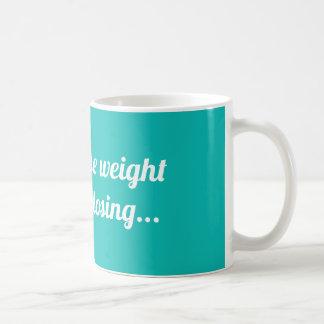 Ik zou gewicht verliezen maar ik haat verliezend koffiemok