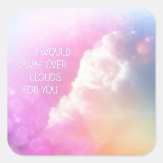 Ik zou over Wolken voor u Stickers springen