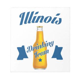 Illinois die team drink notitieblok
