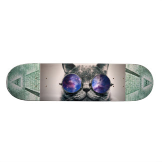 illuminati en melkweg het dek van het skateboard deck