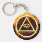 Illuminati op Brand Sleutelhanger