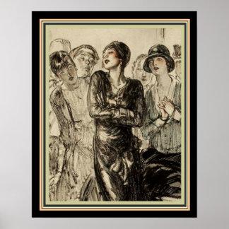 illustratie 16 x 20 van het Tijdschrift van jaren Poster