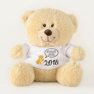 Illustratie 2 het Chinese Jaar 2018 Teddy van Knuffelbeer