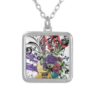 Illustratie 3 van de Gitaar van Grunge Zilver Vergulden Ketting