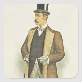 Illustratie van Brits Kostuum, bar. door John Vierkant Sticker