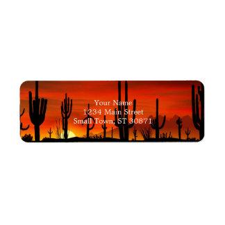 Illustratie van cactusboom wanneer de etiket