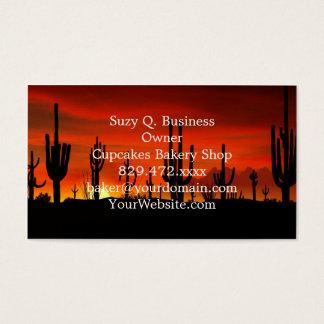 Illustratie van cactusboom wanneer de visitekaartjes