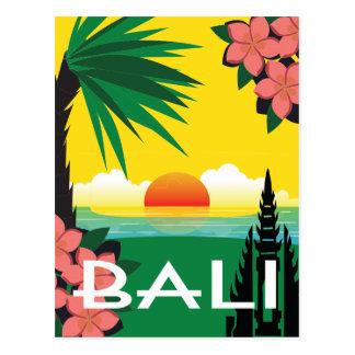 Illustratie van de de reisstijl van Bali Indonesië Briefkaart
