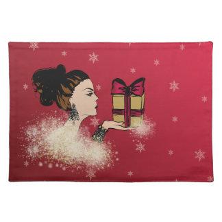 illustratie van de Kerstmis de fonkelende mode Placemat