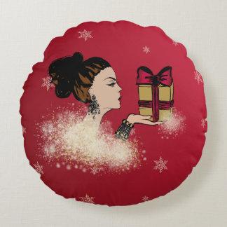 illustratie van de Kerstmis de fonkelende mode Rond Kussen