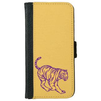 Illustratie van de Tijger van de Kat van paarse iPhone 5 Portefeuille Hoesje