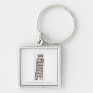 Illustratie van de Toren van Pisa Sleutelhanger