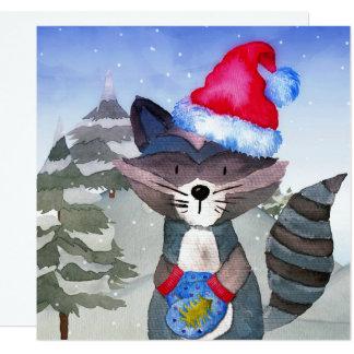 Illustratie van de Wasbeer van de Vrienden van de Kaart