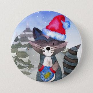 Illustratie van de Wasbeer van de Vrienden van de Ronde Button 7,6 Cm
