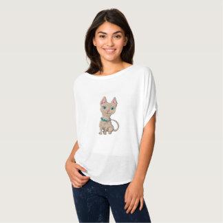 Illustratie van een leuke kat t shirt